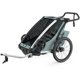 Thule Chariot Cross 1 Rimorchio bici, verde oliva/petrolio